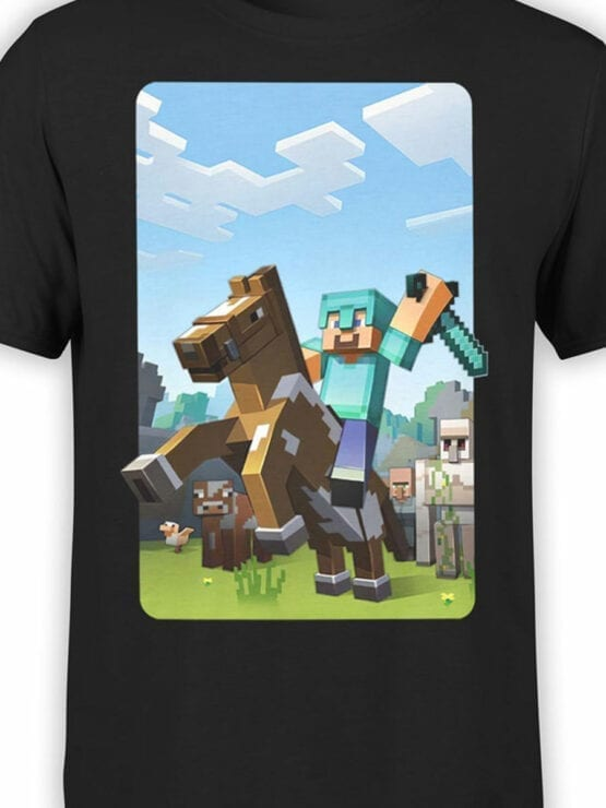 1018 Minecraft T Shirt Rider Front Color