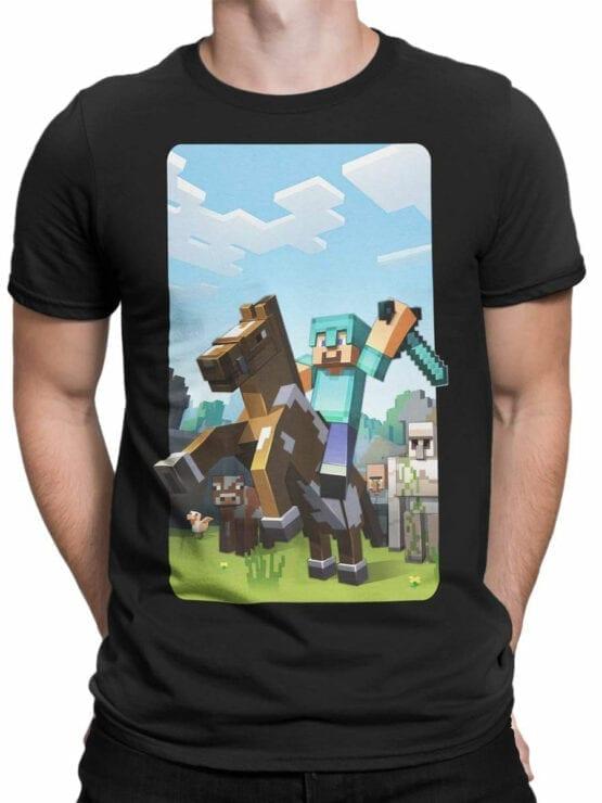 1018 Minecraft T Shirt Rider Front Man