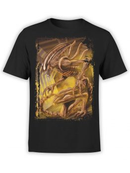 1021 Aliens T Shirt Monster Front