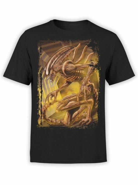 1021 Aliens T Shirt Monster Front