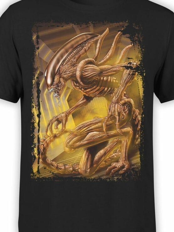 1021 Aliens T Shirt Monster Front Color