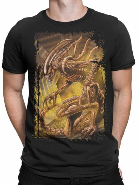 1021 Aliens T Shirt Monster Front Man