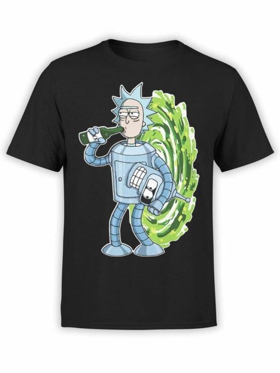 1022 Rick and Morty T Shirt Bender Rick Front