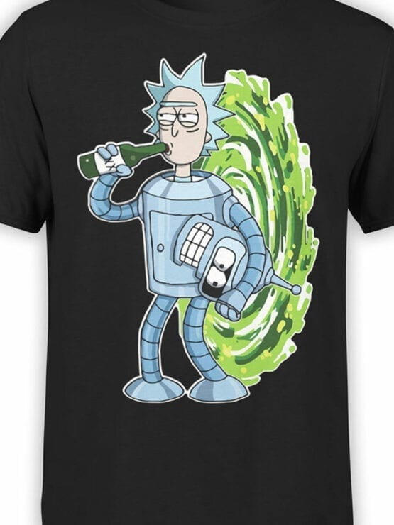 1022 Rick and Morty T Shirt Bender Rick Front Color