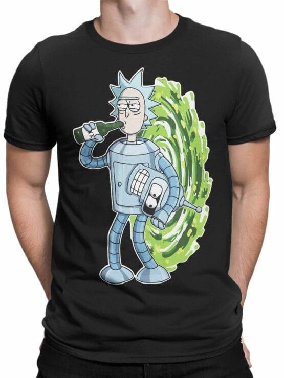 1022 Rick and Morty T Shirt Bender Rick Front Man
