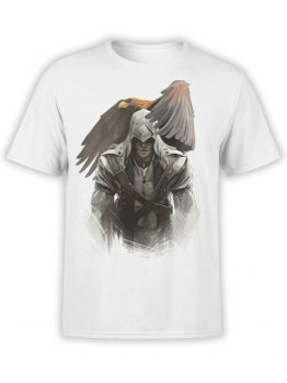 1023 Assassin's Creed T Shirt Eagle Front
