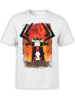 1026 Samurai Jack T Shirt Aku and Jack Front