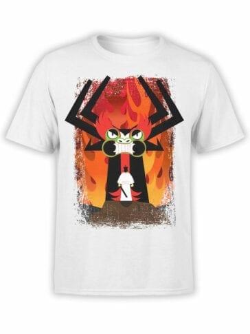 1026 Samurai Jack T Shirt Aku and Jack Front