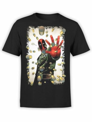 1027 Deadpool T Shirt Stop Front