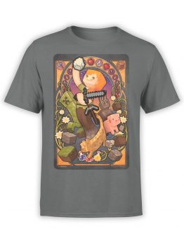 1028 Minecraft T Shirt Mucha Front