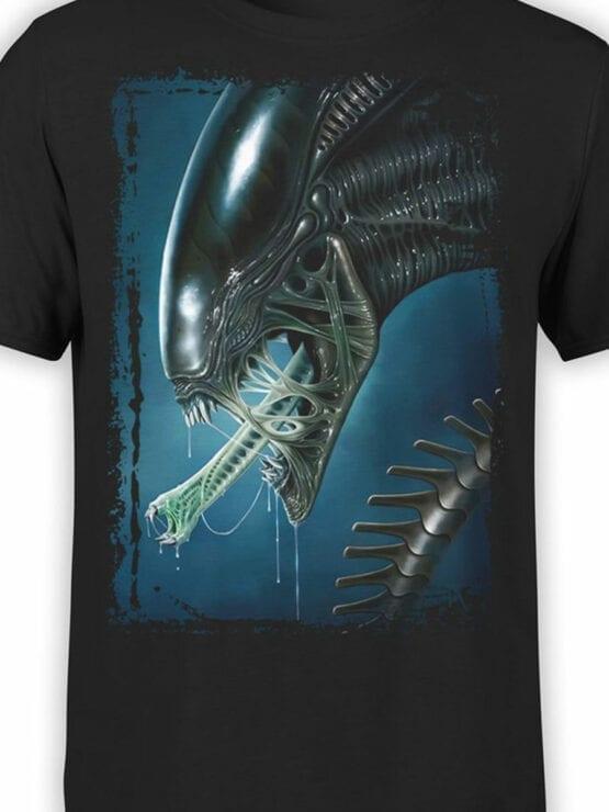 1031 Aliens T Shirt Face Front Color