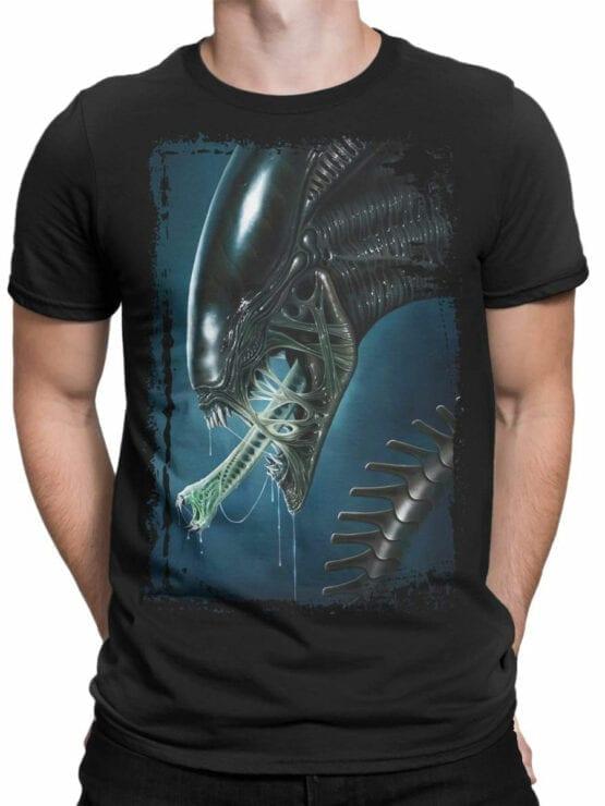 1031 Aliens T Shirt Face Front Man
