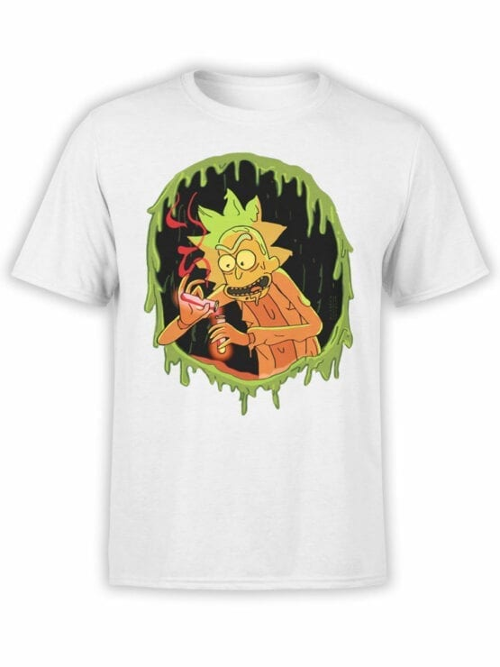 1032 Rick and Morty T Shirt Chemistry Front