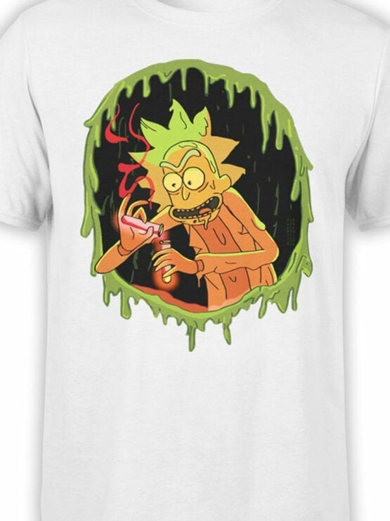 1032 Rick and Morty T Shirt Chemistry Front Color