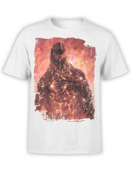 1034 Godzilla T Shirt Fire Front