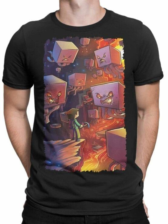 1038 Minecraft T Shirt Battle Front Man