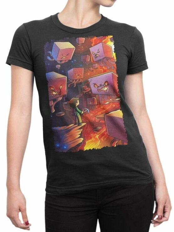 1038 Minecraft T Shirt Battle Front Woman