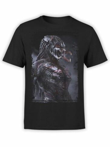 1041 Aliens T Shirt Predator Front