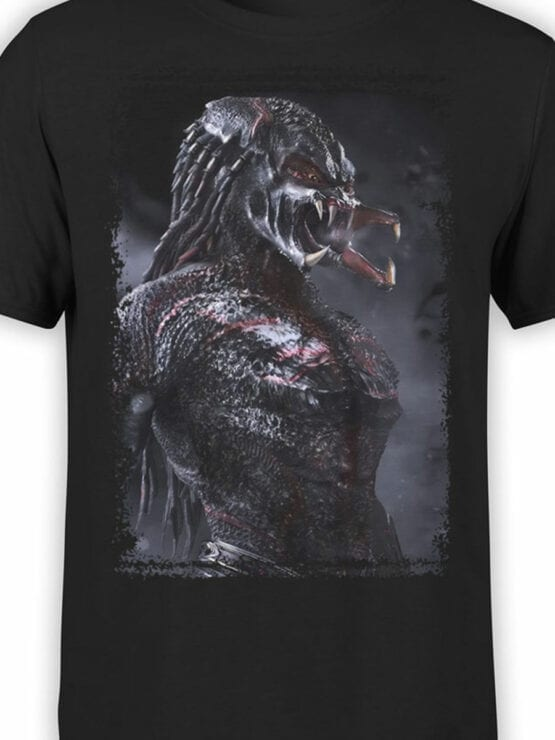 1041 Aliens T Shirt Predator Front Color