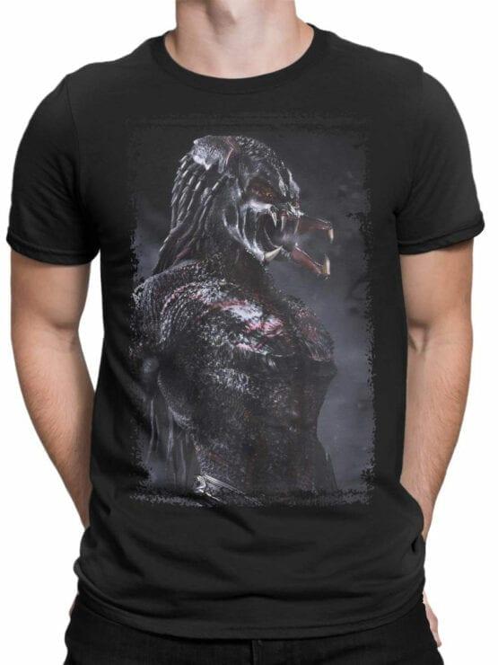 1041 Aliens T Shirt Predator Front Man