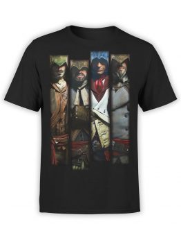 1043 Assassin's Creed T Shirt Memory Front