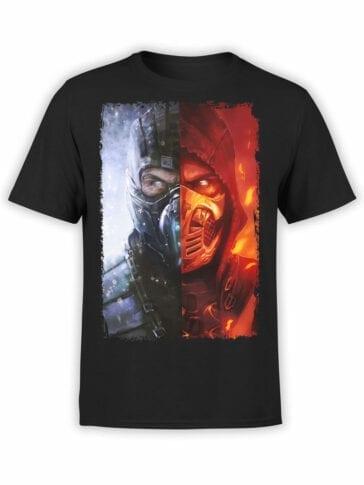 1045 Mortal Kombat T Shirt Divide Front
