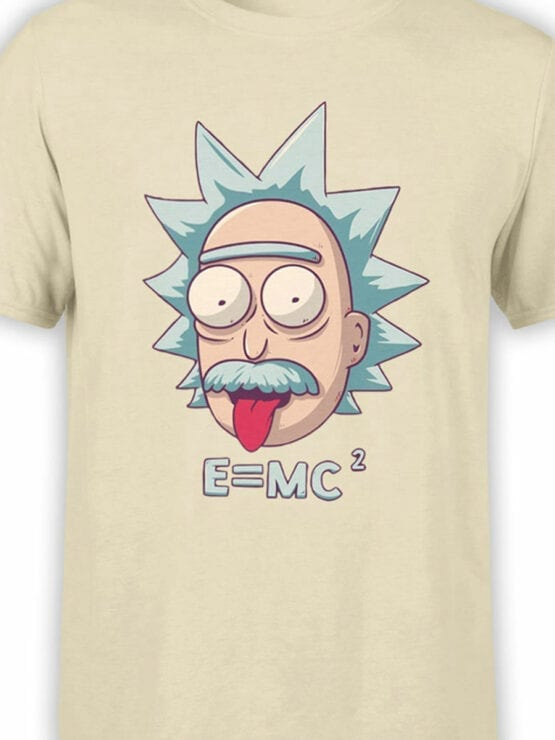 1052 Rick and Morty T Shirt Rick Einstein Front Color