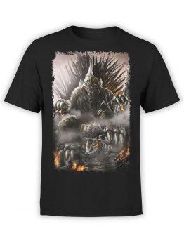 1054 Godzilla T Shirt Throne Front