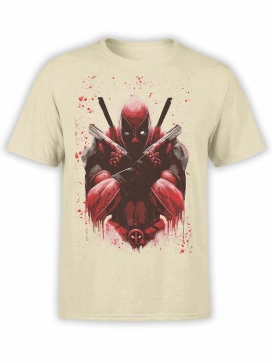 1057 Deadpool T Shirt X Front