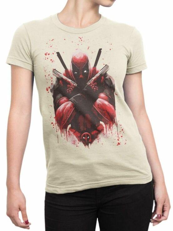 1057 Deadpool T Shirt X Front Woman
