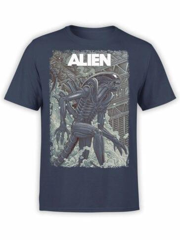 1061 Aliens T Shirt Retro Front