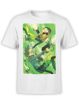 1062 Rick and Morty T Shirt Battle Front
