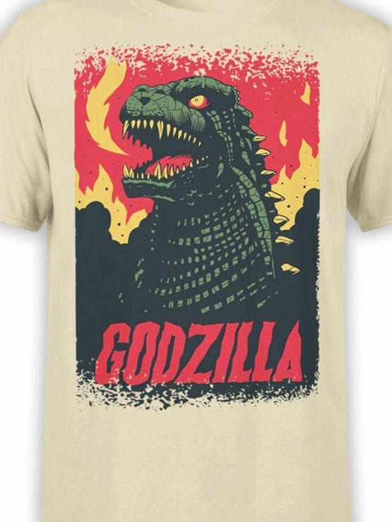 1064 Godzilla T Shirt Poster Front Color