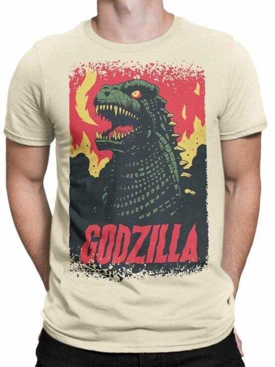 1064 Godzilla T Shirt Poster Front Man