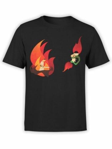 1066 Samurai Jack T Shirt Fire Front