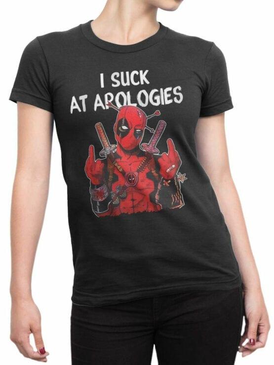 1067 Deadpool T Shirt Fck You Front Woman