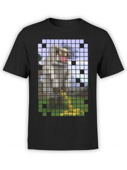 1068 Minecraft T Shirt Piss Front