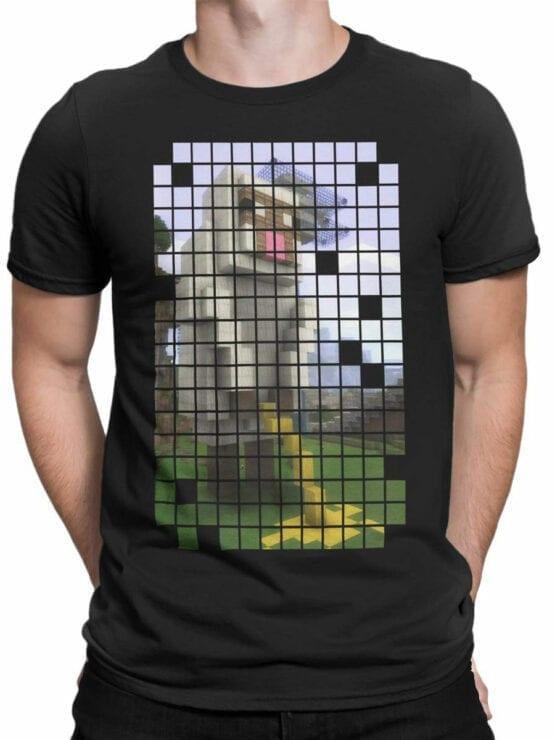 1068 Minecraft T Shirt Piss Front Man