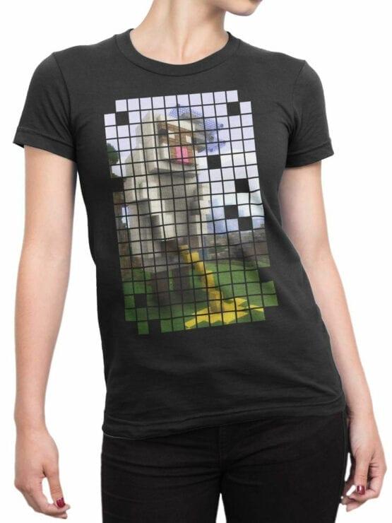 1068 Minecraft T Shirt Piss Front Woman