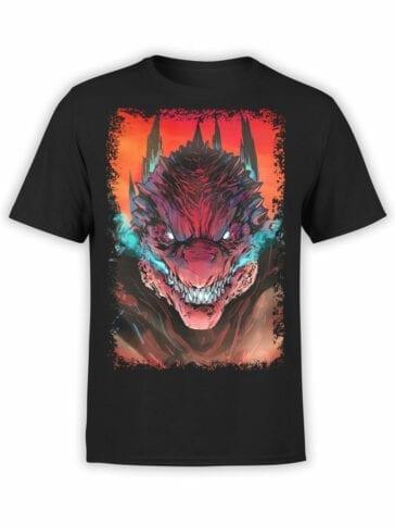 1074 Godzilla T Shirt Rage Front