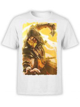 1075 Mortal Kombat T Shirt Scorpion Attack Front