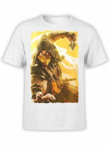 1075 Mortal Kombat T Shirt Scorpion Attack Front