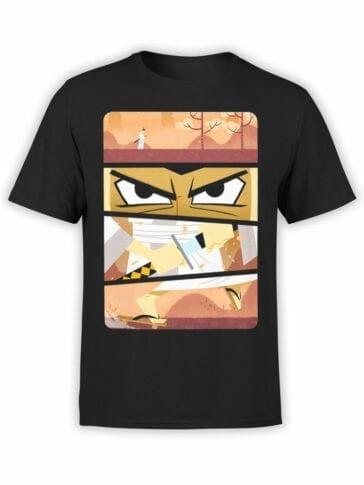 1076 Samurai Jack T Shirt Frames Front