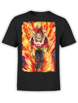 1080 Dragon Ball T Shirt Fire Front