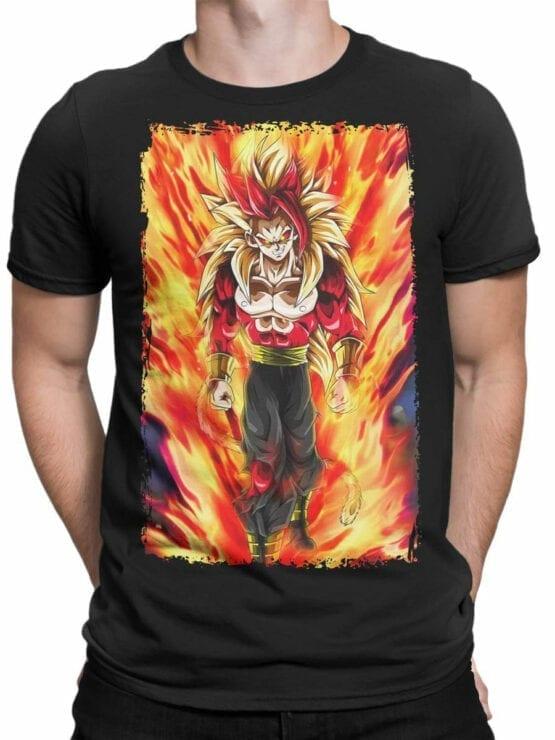 1080 Dragon Ball T Shirt Fire Front Man