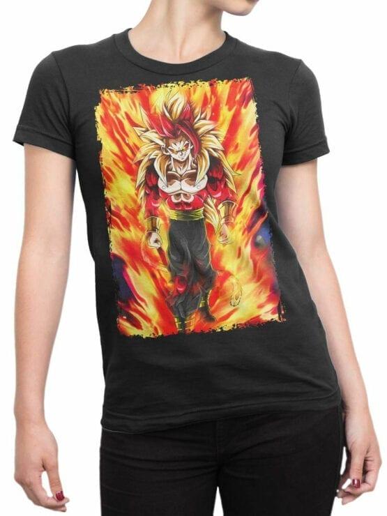 1080 Dragon Ball T Shirt Fire Front Woman