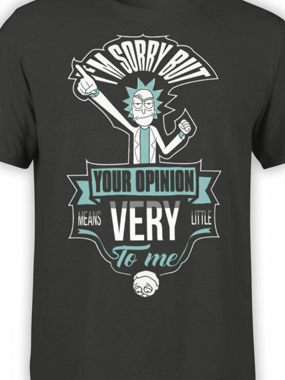 1082 Rick and Morty T Shirt Opinion Front Color