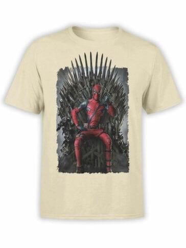 1087 Deadpool T Shirt Throne Front