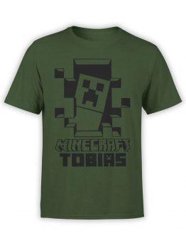 1088 Minecraft T Shirt Tobias Front