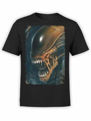 1091 Aliens T Shirt Horror Front